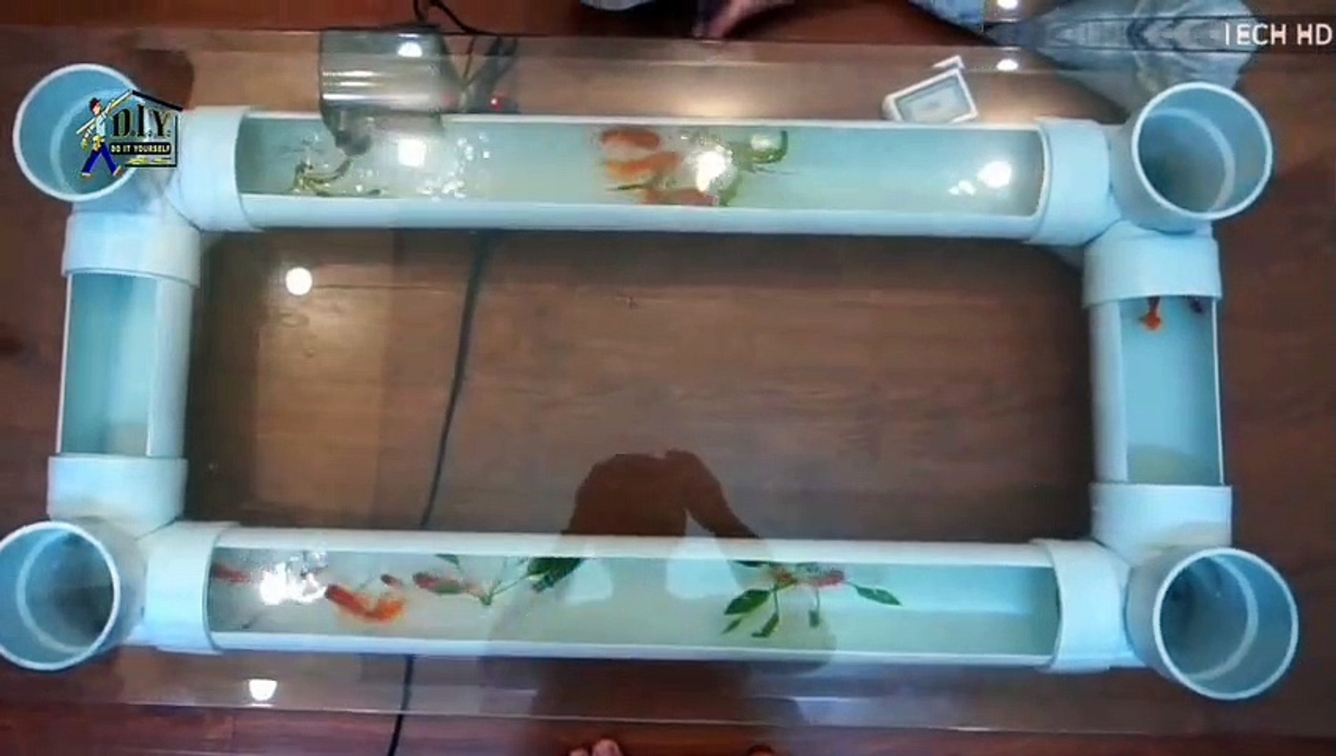 Make A Coffee Table Aquarium Using Pvc Do It Yourself Diy Video Dailymotion