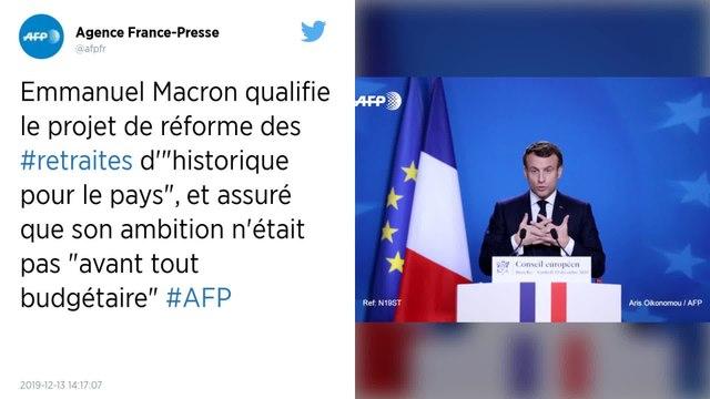 Retraites : « Une réforme historique pour le pays » selon Emmanuel Macron