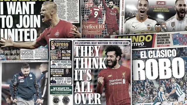 L'Angleterre hallucine du parcours sans faute de Liverpool, le mauvais départ de Gattuso avec le Napoli fait grand bruit