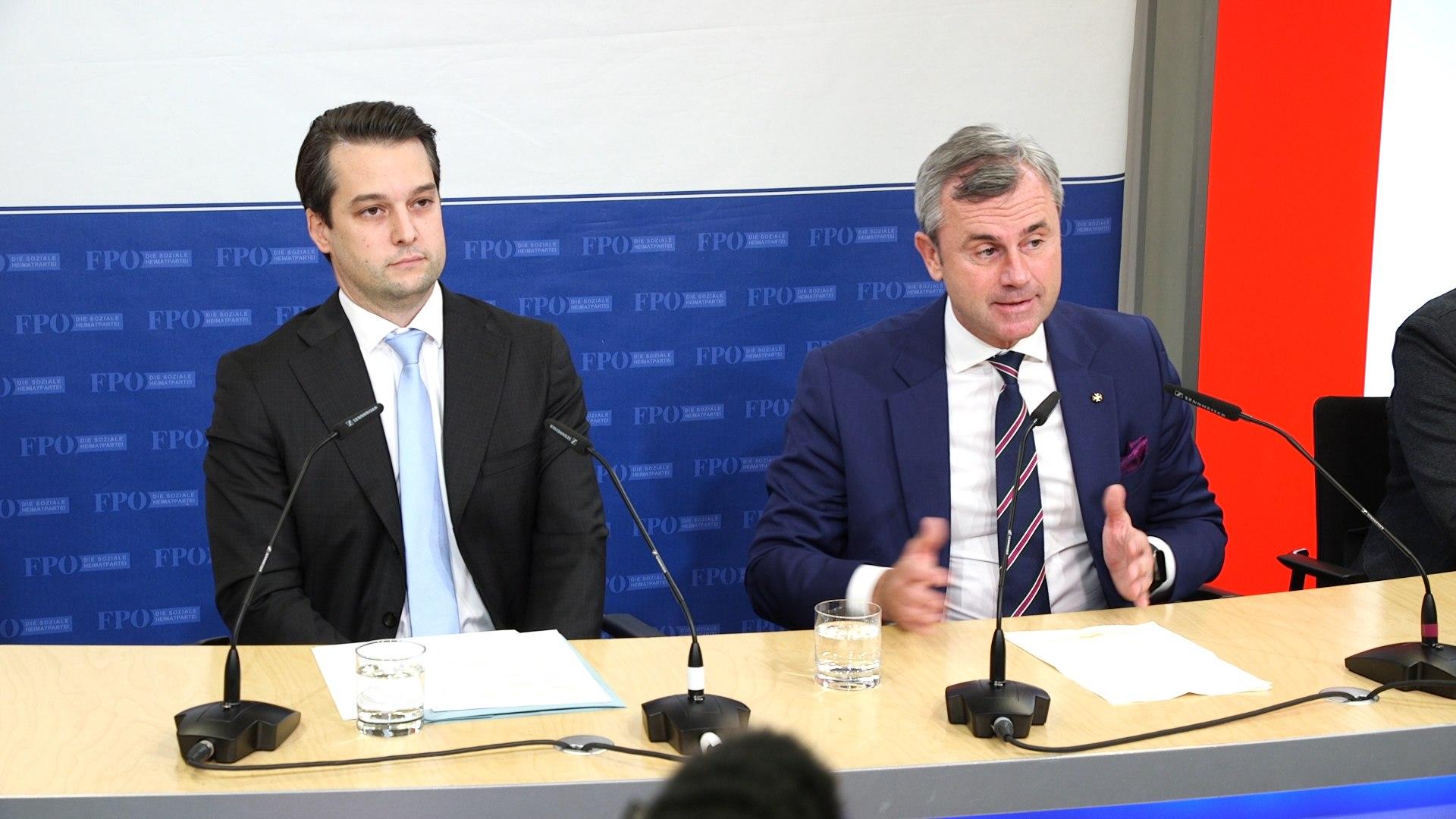 Strache-Ausschluss aus der FPÖ: Die Pressekonferenz im Video