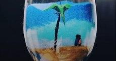 Cet artiste réalise de superbes portraits en sable !