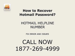 How to Recover Hotmail Password? | 1877-269-4999