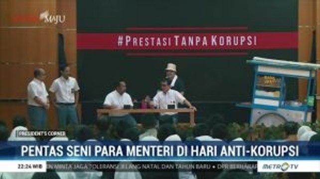 Pentas Seni Para Menteri di Hari Antikorupsi