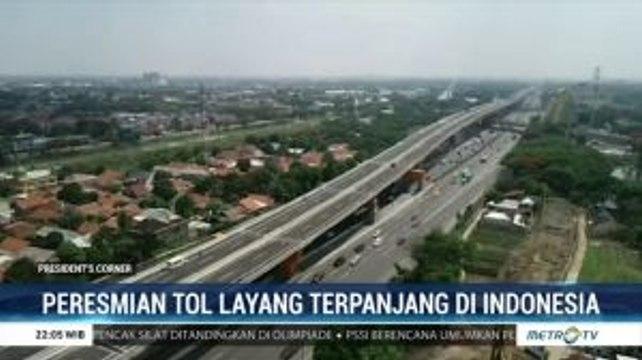 Peresmian Tol Layang Terpanjang di Indonesia