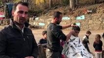 Hizanlı Berber ve Muhtardan 'Traşsız Köy Çocuğu Kalmasın' Projesi