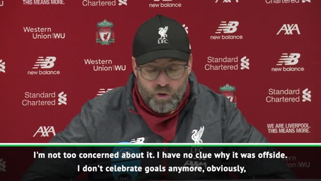I don't celebrate goals anymore - Klopp confused about disallowed strike