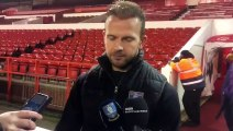 Sheffield Wednesday hat-trick hero Jordan Rhodes after the Owls' 4-0 win at Nottingham Forest