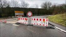 Kleinblittersdorf : route coupée en direction des thermes