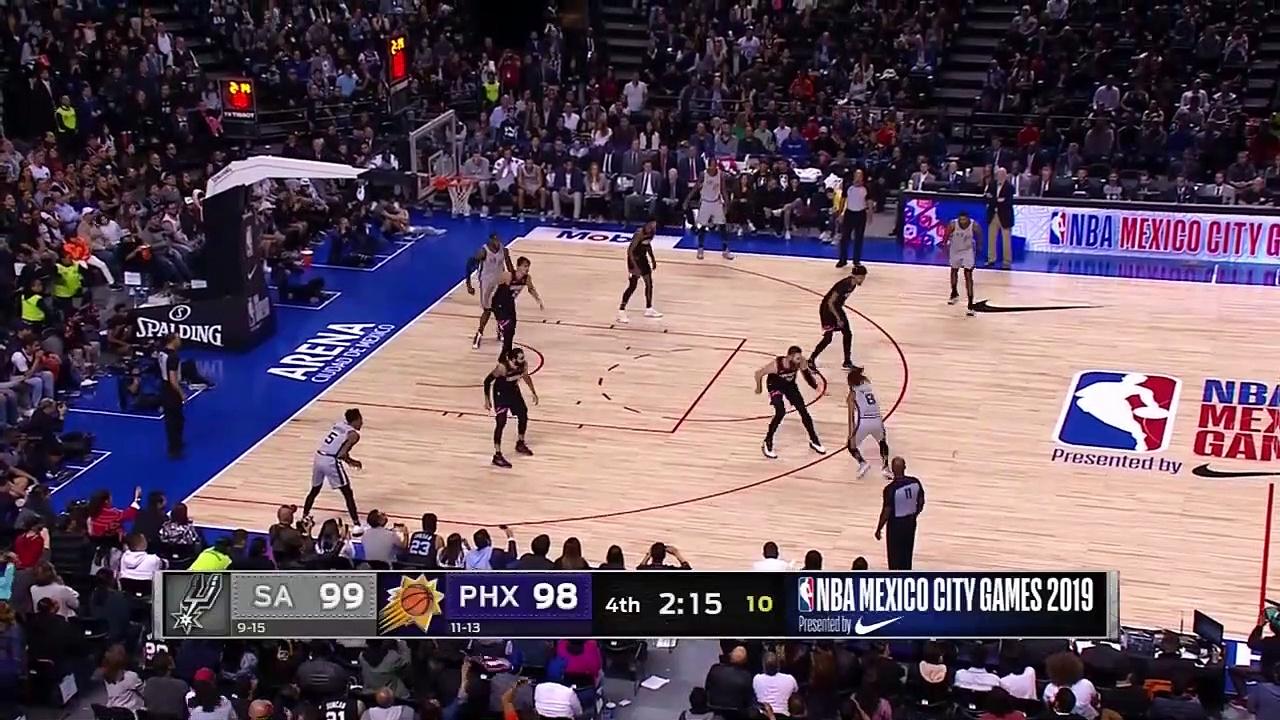 San Antonio Spurs 121 - 119 Phoenix Suns