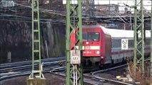 DB IC 1273 und 1278 Rostock-Dresden-Rostock mit Baureihe 101 + 5 IC-Wagen am 15.12.2019 in Dresden Hbf.