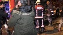 Başkentte eğlence merkezinde çıkan yangın itfaiye ekiplerince söndürüldü
