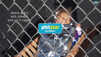 US church nativity scene puts Jesus in cage as detained refugee