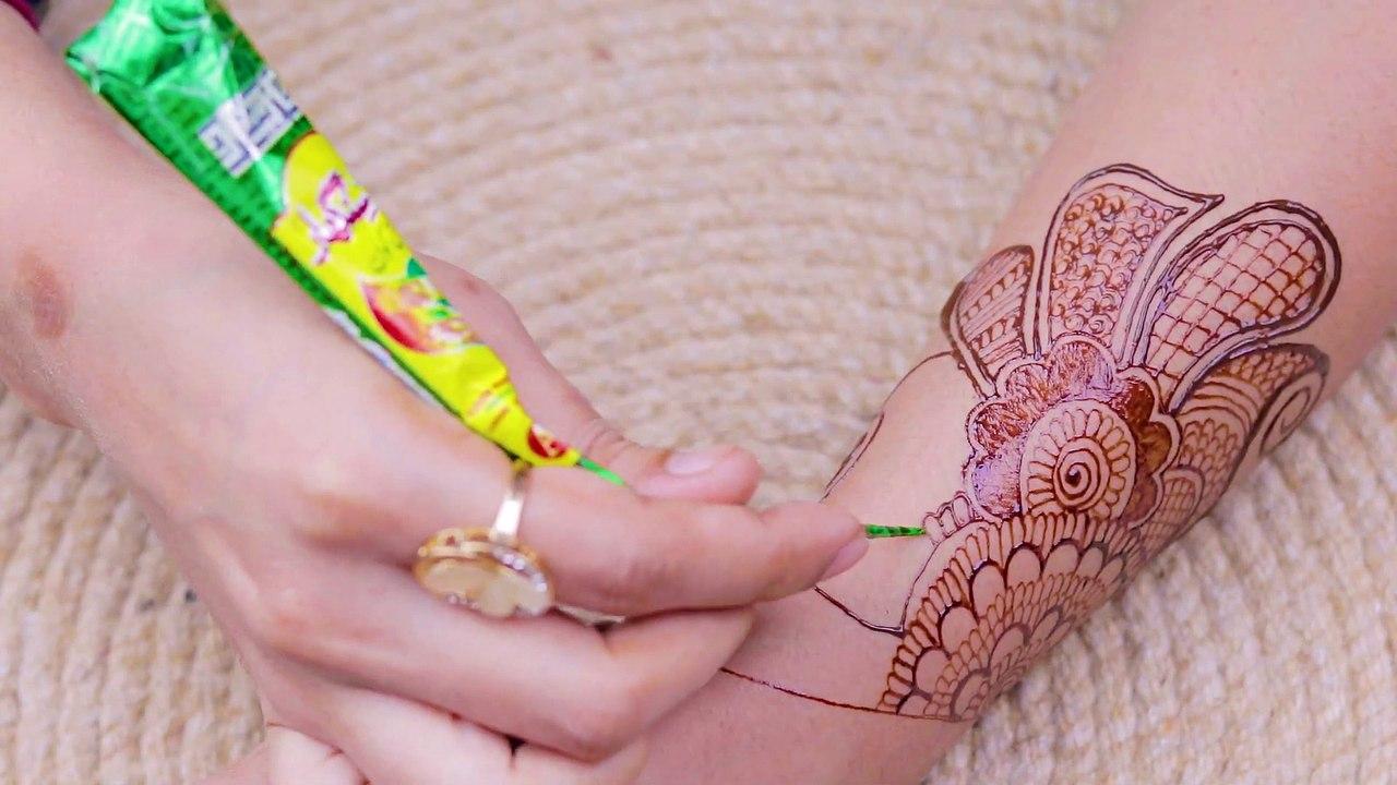 mehandi design back hand side