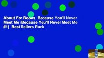 About For Books  Because Youll Never Meet Me (Because Youll Never Meet Me #1)  Best Sellers Rank
