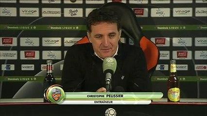 La réaction de Christophe Pelissier après FC Lorient - Auxerre (1-0) 19-20