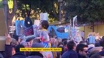 """Italie : le mouvement des """"sardines"""" tente de gêner Matteo Salvini"""