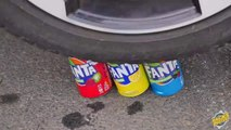 Crushing Crunchy & Soft Things by Car! - EXPERIMENT- CHUPA CHUPS VS CAR VS FOOD أطفال مضحك ضد شبح - جوني جوني أغاني الحضانة قافية وتعلم الألوان للأطفال
