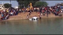Learner driver becomes learner diver in India after accelerating into pond during lesson
