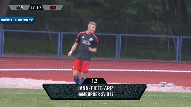 Le doublé de Fiete Arp avec les U17 d'Hambourg SV contre Concordia