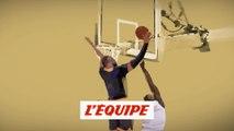 Le contre sur contre-attaque par LeBron James - Basket - NBA