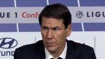Football - Ligue 1 - Rudi Garcia évoque la défaite de l'OL contre Rennes et la blessure de Memphis Depay