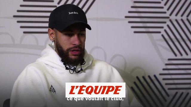 Neymar «Je vais tout donner sur le terrain pour que le PSG triomphe» - Foot - L1 - PSG