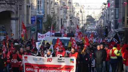 Nancy : manifestation du 10 décembre contre les retraites et interview Unité SGP FO