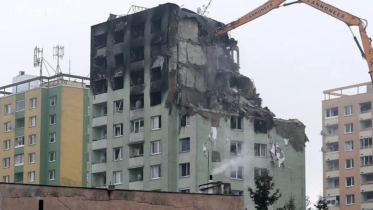Prešov: Búranie bytovky na Mukačevskej