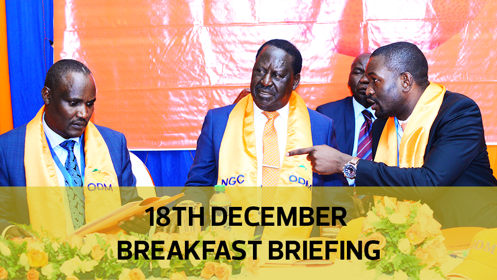 ODM's fresh proposals for BBI | Handshake deal illegal | Concerns over Naivasha dry port: Your Breakfast Briefing