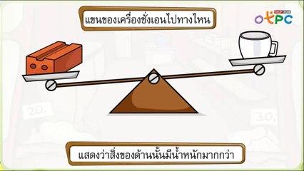 สื่อการเรียนการสอน การชั่งโดยใช้หน่วยที่ไม่ใช่หน่วยมาตรฐาน ป.1 คณิตศาสตร์