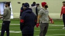 Julian Edelman Warms Up At Patriots Practice, NFL Week 16 vs. Bills