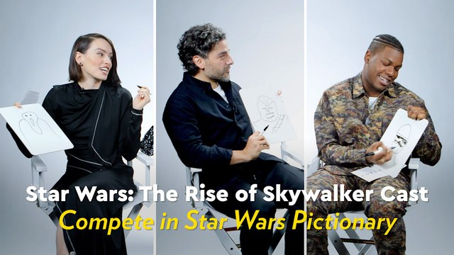We Had the Star Wars Cast Compete in Pictionary, and Oscar Isaac's Chewbacca Drawing Is Truly a Masterpiece