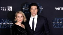 "Adam Driver and Joanne Tucker ""Star Wars: The Rise of Skywalker"" World Premiere Blue Carpet"