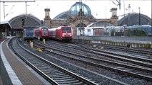 DB Baureihe 101 mit bei der Ausfahrt aus Dresden Hbf. in Richtung Abstellanlage Dresden-Reick am 15.12.2019