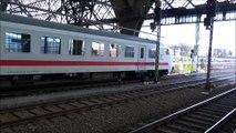 DB Baureihe 101 mit IC 1278 Dresden-Rostock bei der Ausfahrt aus Dresden Hbf. am 15.12.2019