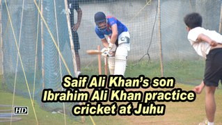 Saif Ali Khan's son Ibrahim Ali Khan practice cricket at Juhu