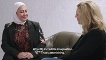Cate Blanchett meets successful business owner and refugee Razan Alsous _ #EveryoneCounts