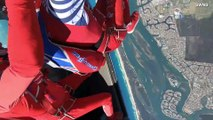 Freefall Flow! Must See Footage As Two Skydivers Perform Mid-Air Dance Routine!
