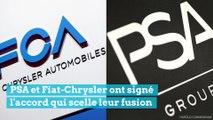 PSA et Fiat-Chrysler fusionnent pour devenir le 4ème constructeur automobile mondial !