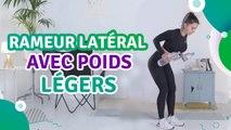 Rameur latéral avec poids légers - Santé Physique