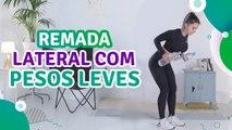 Remada lateral com pesos leves - Sou Fitness
