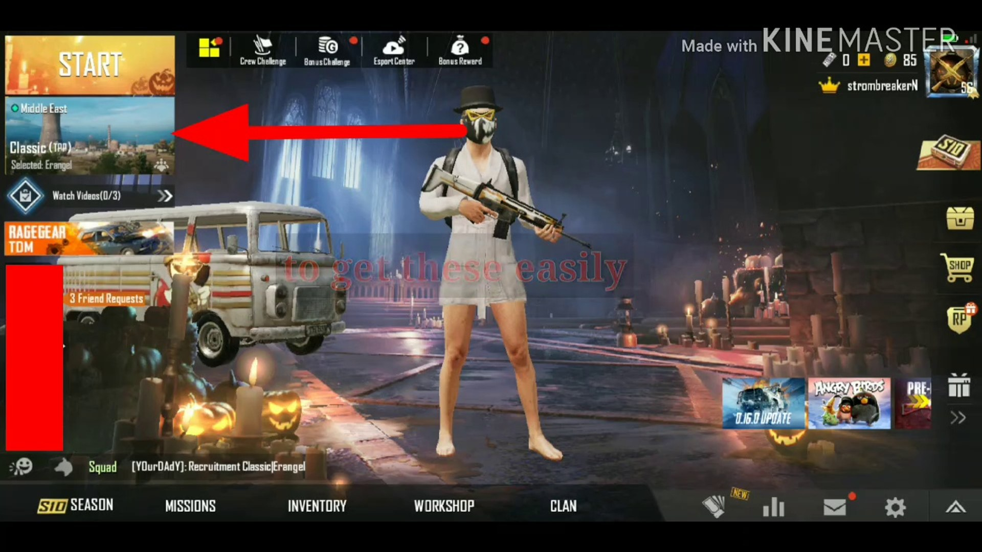 New trike to get free premium create cooupon in pubg mobile||and also BAN pan legendary color||
