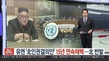 '유엔 北인권결의' 15년 연속채택…北 반발