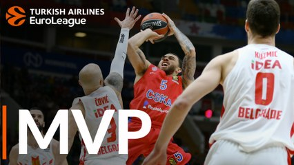 Round 14 MVP: Mike James, CSKA Moscow