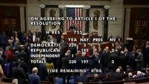 Cámara de Representantes aprueba el 'impeachment' contra Trump