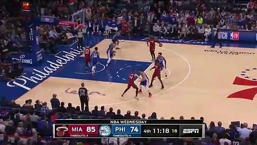 Miami Heat 108 - 104 Philadelphia 76ers