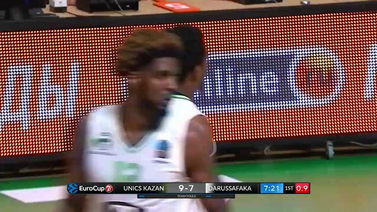 UNICS Kazan 71 - 68 Darüşşafaka Tekfen | Maç Özeti - EuroCup 10. Hafta