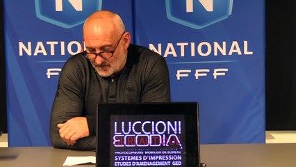 Vidéo - le point presse du coach F. Ciccolini avant Gazélec Ajaccio / US Concarneau