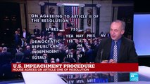 Impeachment procedure: President Trump impeached by U.S. House of Representatives