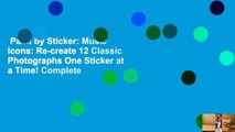 Paint by Sticker: Music Icons: Re-create 12 Classic Photographs One Sticker at a Time! Complete